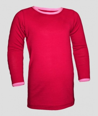 mäh!merino Functional Kids Shirt 1/1 red