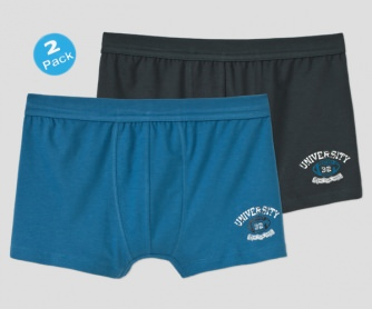 2er-Pack Hip-Shorts Schiesser University
