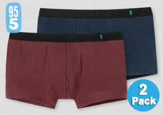2-farbiges Set SCHIESSER Shorts 95/5 dunkelblau bordeaux
