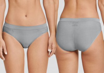 Damen Mini Slip SCHIESSER Active Seamless Ultra Light - grau