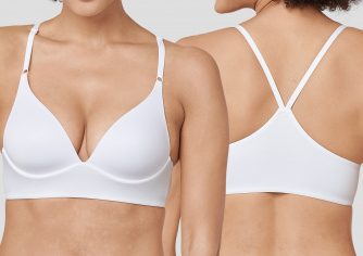 Damen Lounge-Bra SCHIESSER Invisible Soft - gepaddet - weiß