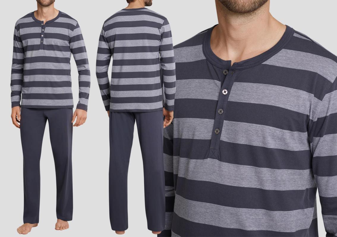 schiesser schlafanzug lang ebony 159631 frei haus 20. Black Bedroom Furniture Sets. Home Design Ideas
