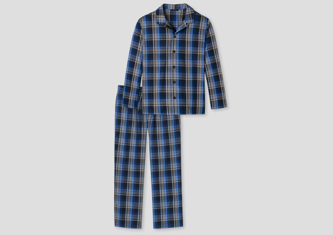 Men Pyjama blue squared