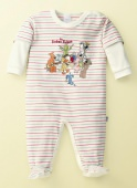 Schiesser Baby Romper With Footing The friendly Seven